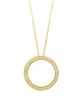 18ct Gold  Diamond Circle of Life Pendant