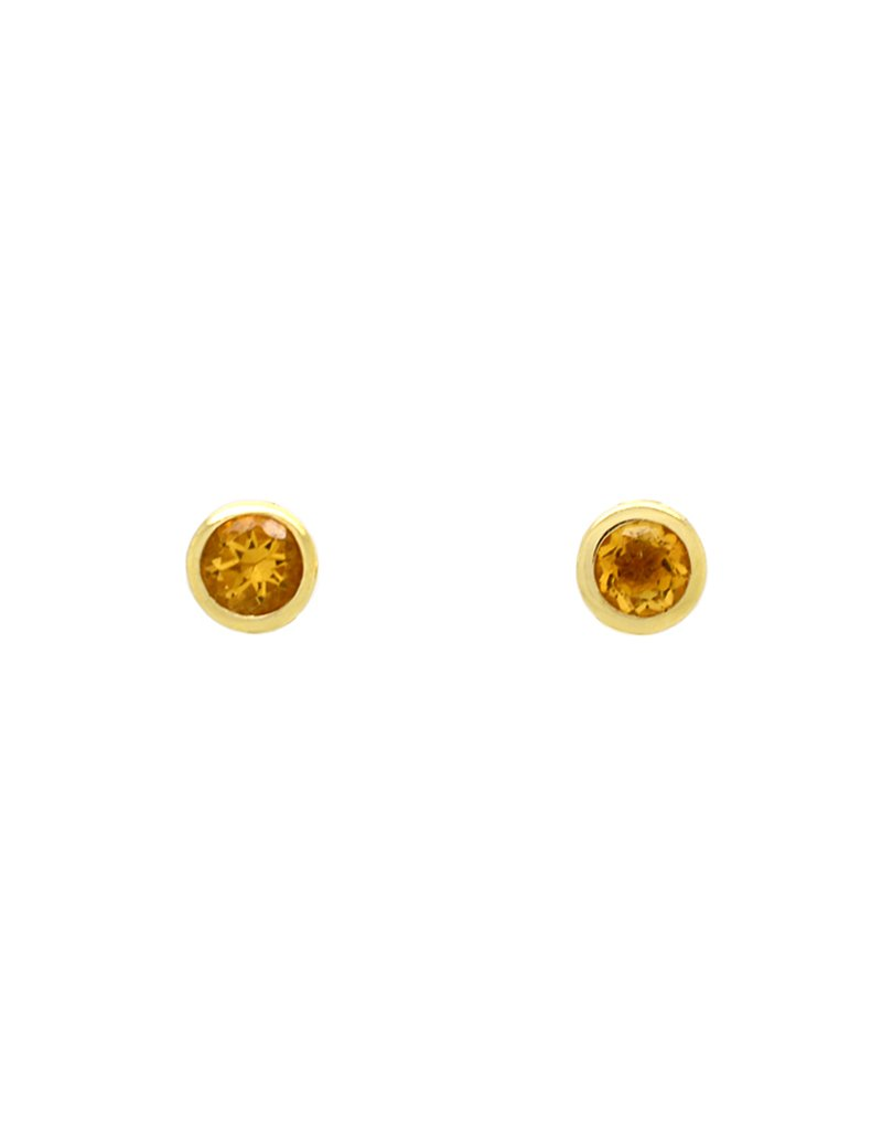 9ct Gold Citrine Stud Earrings