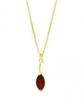 9ct Gold Garnet Pendant