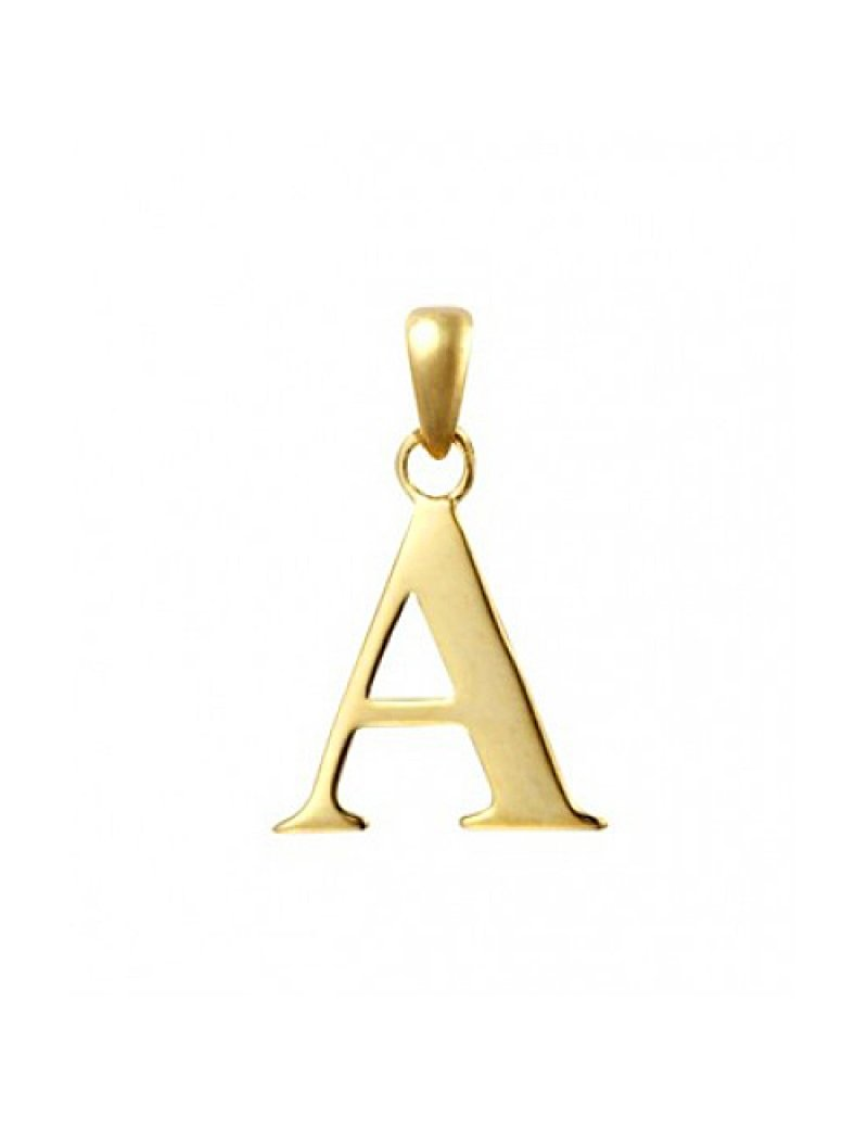 9ct Gold Initial A Pendant