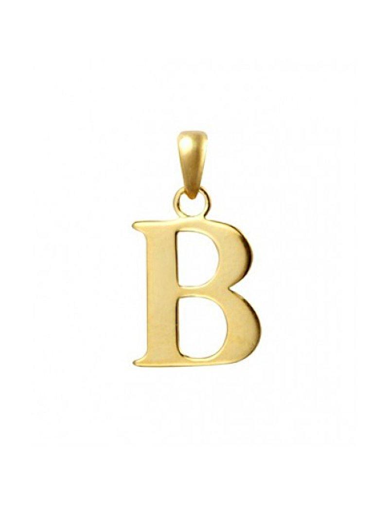 9ct Gold Initial B Pendant
