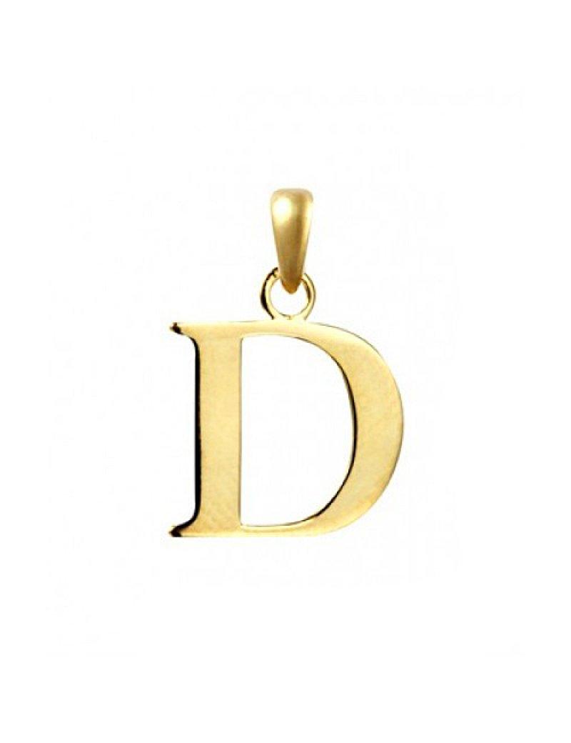 9ct Gold Initial D Pendant