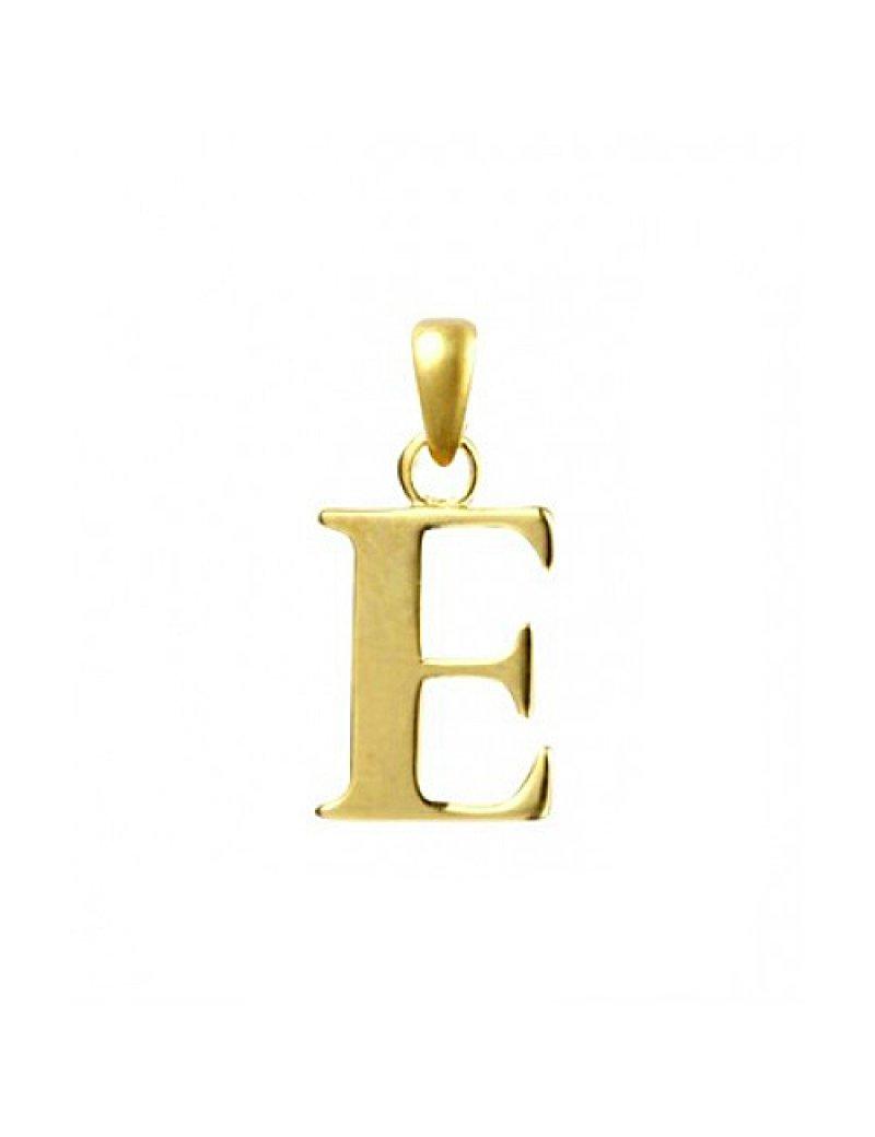 9ct Gold Initial E Pendant