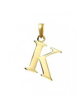 9ct Gold Initial K Pendant