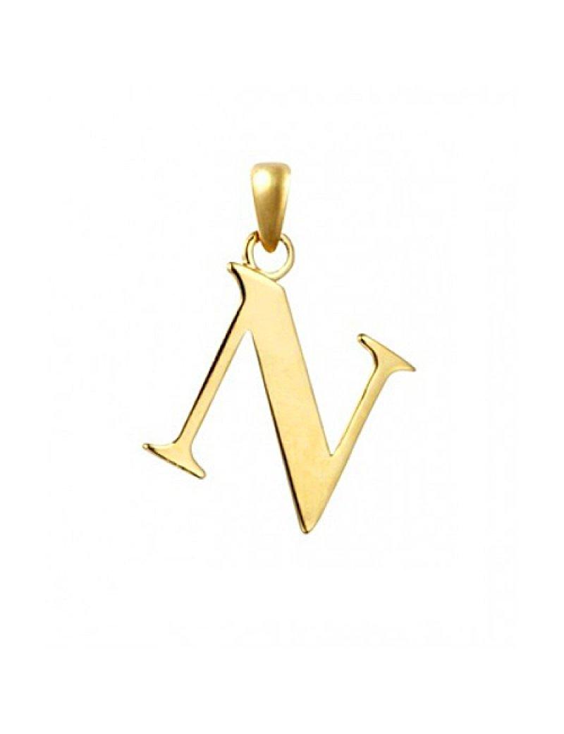 9ct Gold Initial N Pendant