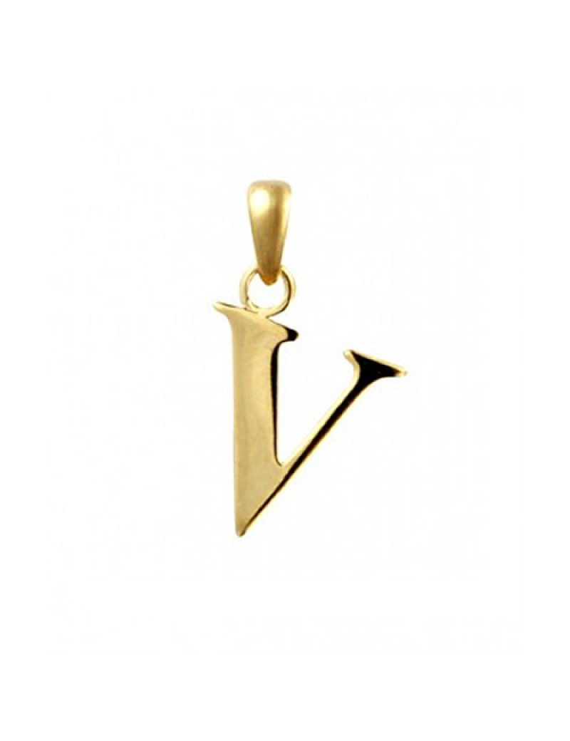 9ct Gold Initial V Pendant