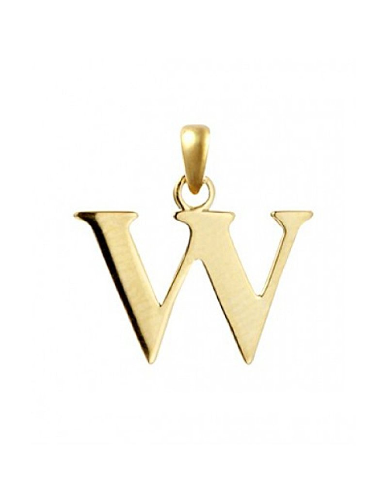 9ct Gold Initial W Pendant