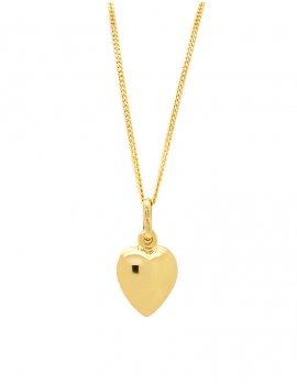 9ct Gold Plain Heart Pendant