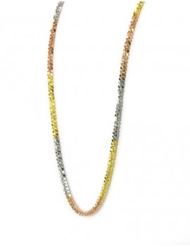 18ct Tri-Colour Gold Fancy Chain