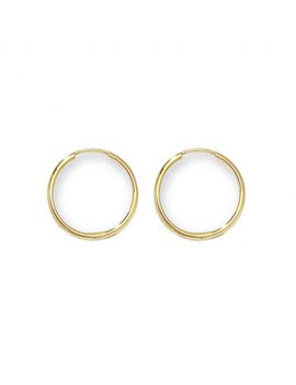 9ct Yellow Gold 15mm Sleepers