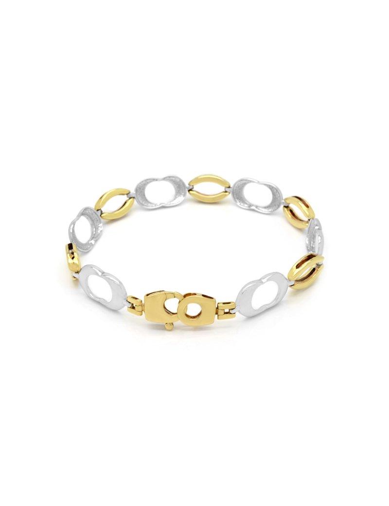 9ct Two-Tone Gold Link Bracelet