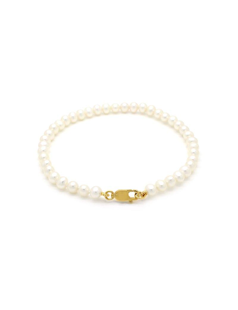 9ct Gold Freshwater Pearl Bracelet - 19cm