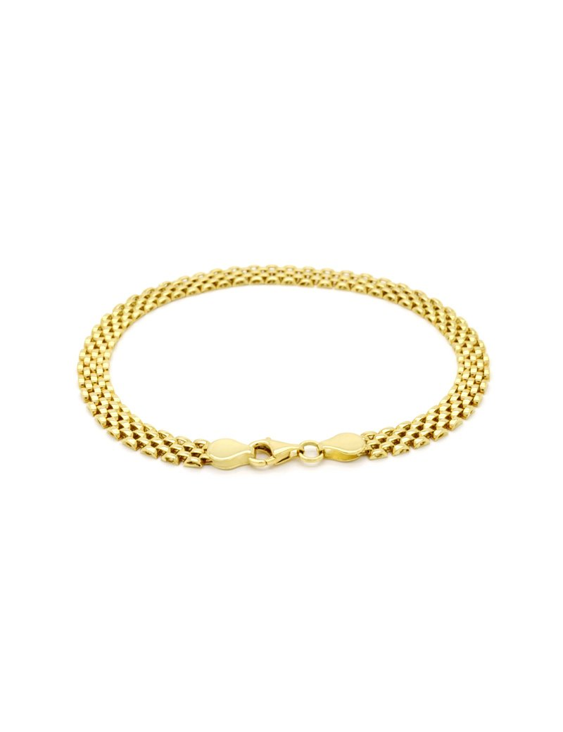 9ct Gold Panther Bracelet - 19.5cm