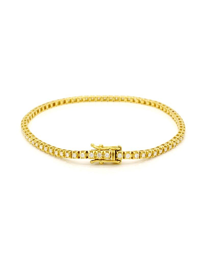 18ct Gold Diamond Tennis Bracelet