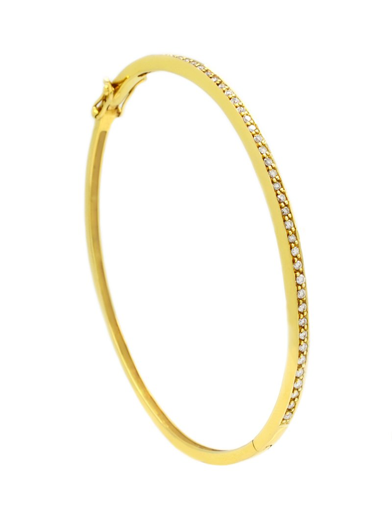 18ct Gold Diamond Bangle