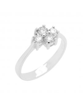 18ct White Gold Diamond Four Stone Ring