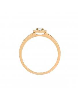 18ct Rose Gold Diamond Halo Ring