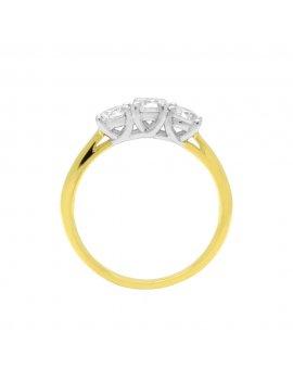 18ct Gold Diamond Three Stone Ring