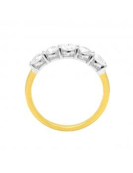 18ct Gold Diamond Five Stone Eternity Ring