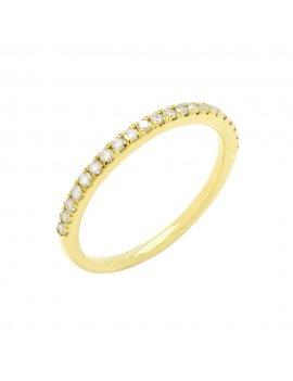 9ct Yellow Gold Diamond Half Eternity Ring