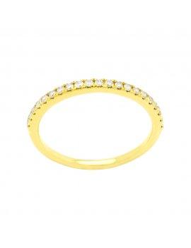 18ct Yellow Gold Diamond Half Eternity Ring