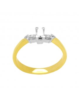 18ct Gold Diamond Three Stone Ring