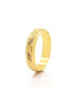 9ct Yellow Gold Diamond Cut 4mm Wedding Ring