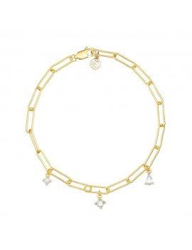 Sif Jakobs Bracelet Rimini - 18K Gold Plated With White Zirconia