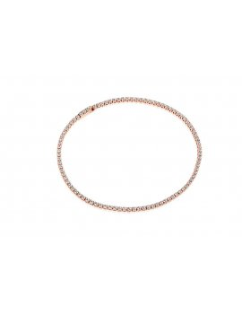 Sif Jakobs Bracelet Ellera - 18K Rose Gold Plated With White Zirconia