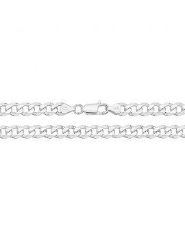 "Silver Curb 8.5"" Bracelet"