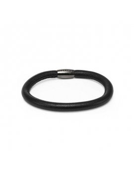 STORY by Kranz & Ziegler Black Leather Bracelet