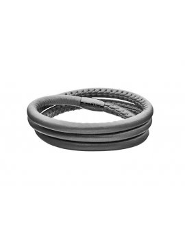 STORY by Kranz & Ziegler Dark Grey Leather 3-Wrap Bracelet