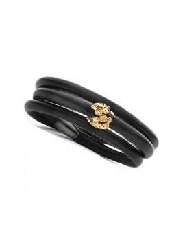 STORY by Kranz & Ziegler Black Leather 3-Wrap Starter Bracelet