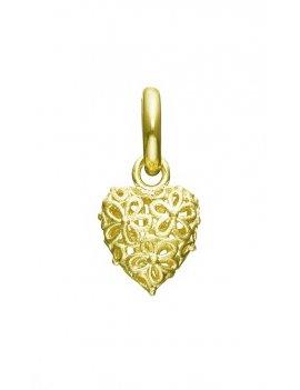 STORY by Kranz & Ziegler 'Flower Heart' Gold Plated Drop Charm 5008911