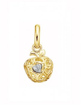 STORY by Kranz & Ziegler 'Apple Heart' Gold Plated Drop Charm 5208820