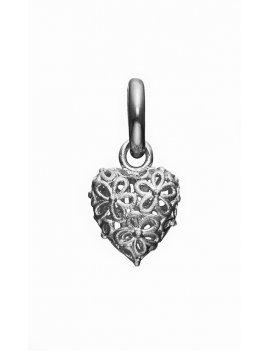 STORY by Kranz & Ziegler 'Flower Heart' Rhodium Silver Drop Charm 6008911