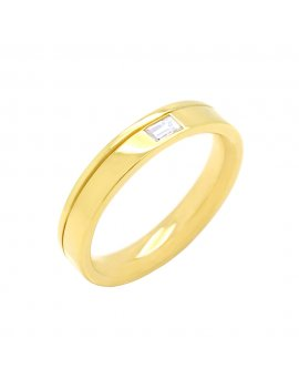 18ct Yellow Gold Diamond 4mm Wedding Ring