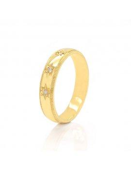 9ct Yellow Gold Diamond 4mm Wedding Ring