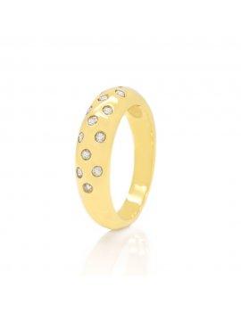 9ct Yellow Gold Diamond 5mm Tapered Wedding Ring