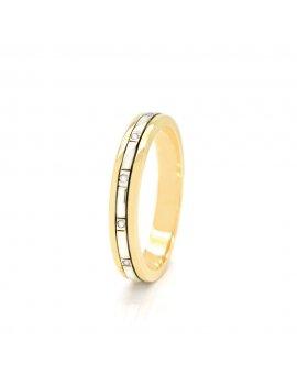 9ct Two-Tone Gold Diamond 3mm Wedding Ring