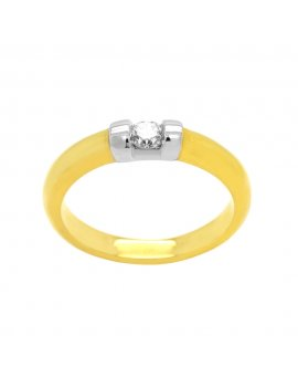 18ct Yellow Gold Diamond 3mm Tapered Wedding Ring